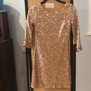 Gold sequin bodycon mini dress size small NWT